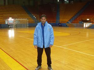 Marcelo Gallina, treinador de goleiros da seleção de futsal da Líbia. - Crédito: Foto: Arquivo pessoal