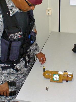 Bomba é encontrada na porta de creche em MT  - Crédito: Foto: Divulgação /Força Nacional de Segurança