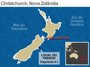 Mapa localiza região do tremor - Crédito: Foto: Arte/G1