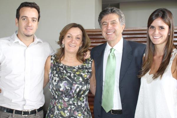 Marcelo, Cecília, Murilo Zauith e Fernanda -