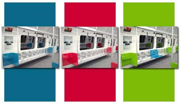 Usuários do Metrô Rio podem escolher a cor do interior dos novos carros em votação pela internet.  - Crédito: Foto: Reprodução/blog.metrorio.com.br