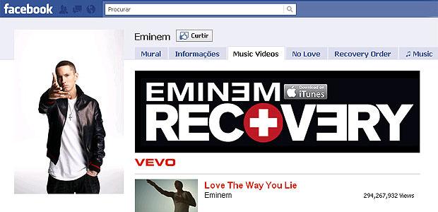 Eminem é o artista vivo que os usuários do Facebook mais \'curtiram\' - Crédito: Foto: Reprodução