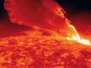 A erupção registrada pela Nasa durou cerca de 1 hora em 24 de fevereiro - Crédito: Foto: Nasa / BBC