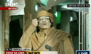 kadhafi ditador da líbia - Crédito: Foto: Reprodução/ Globo News