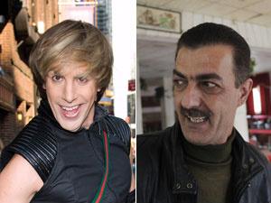 Sacha Baron Cohen e Ayman Abu Aita - Crédito: Foto: AP