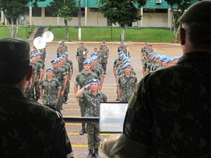 Militares participam de solenidade de recepção nesta quinta - Crédito: Foto: G1