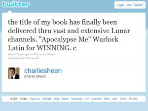 Post de Charlie Sheen no Twitter: ator domina  discussões em redes sociais - Crédito: Foto: Reprodução