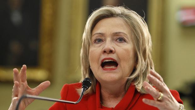 A secretária de Estado dos EUA, Hillary Clinton, fala no Senado nesta quinta-feira - Crédito: Foto: Reuters