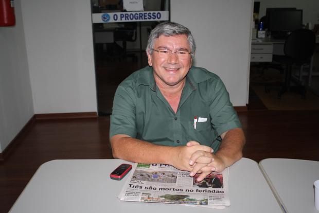 Luis Carlos Luciano, vice-presidente regional do Centro-Oeste da  Fenaj - Crédito: Foto :Hedio Fazan/PROGRESSO