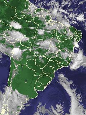 Imagem de satélite de segunda-feira - Crédito: Foto: Reprodução/Cptec/ Inpe