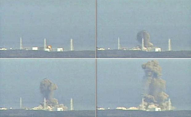 Combinação de imagens de vídeo da TV local mostra a explosão desta segunda-feira - Crédito: Foto: Reuters