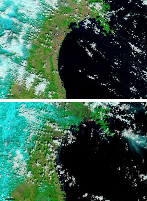 Images de satélite divulgadas neste sábado - Crédito: Foto: REUTERS/NASA/MODIS Rapid Response Team/Handout