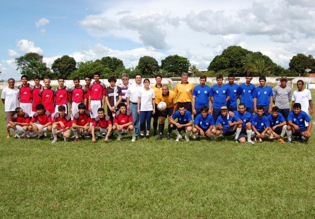 O jogo marcou a abertura da 2ª edição da Copa Integração de Futebol Amador, de Glória de Dourados - Crédito: Foto: Divul-gação