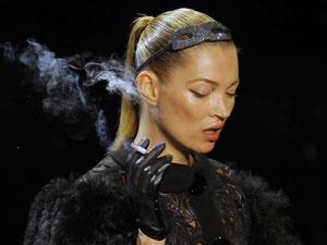 A modelo Kate Moss - Crédito: Foto: AP