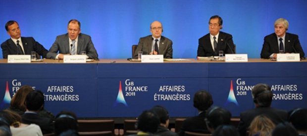 Os ministros das Relações Exteriores do G8 pediram nesta terça-feira - Crédito: Foto: Martin Bureau/AFP