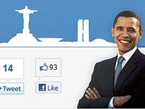 Reprodução de página criada pela embaixada dos EUA sobre visita de Obama - Crédito: Foto: Reprodução/G1
