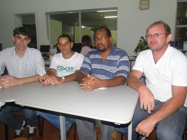 Representantes do partido durante visita ao O Progresso - Crédito: Foto: Divulgação
