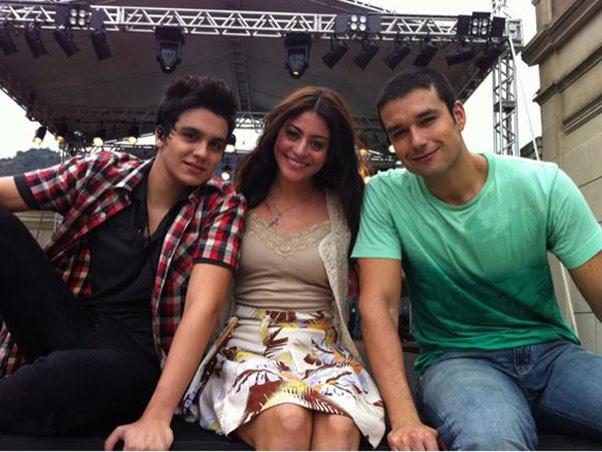 Luan Santana com Carol Castro e Sérgio Marone  -