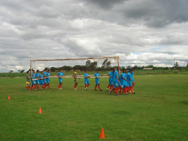 Espírito de equipe marcou o treino de preparação do Sete de Setembro que enfrenta o Águia Negra, no Domingo - Crédito: Foto: Divulgação
