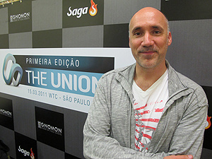 Neville Page esteve no evento paulistano The Union  - Crédito: Foto: Gustavo Miller/G1