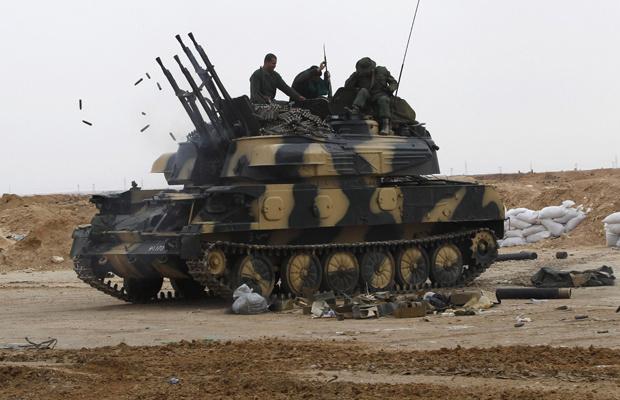 Tropas pró-Kadhafi nesta quarta-feira - Crédito: Foto: AP