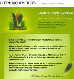 Equipe do Green Parrot anuncia compra pelo Google - Crédito: Foto: Reprodução