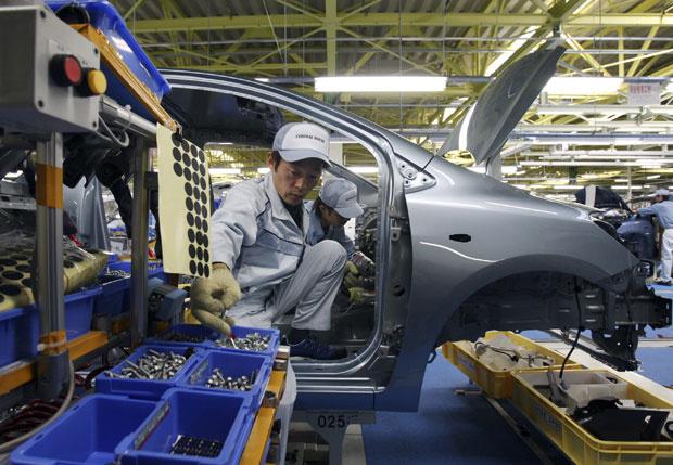A Toyota irá manter suspensa a produção de automóveis nas suas fábricas até o dia 22 de março - Crédito: Foto: Arquivo/AP
