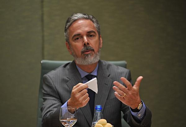 O ministro das Relações Exteriores, Antônio Patriota, durante entevista fala sobre a visita de Barack Obama, ao Brasil Foto: Agência Brasil -