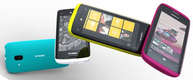 Protótipo de celulares da Nokia com Windows Phone 7, ainda sem especificações - Crédito: Foto: Divulgação/Nokia