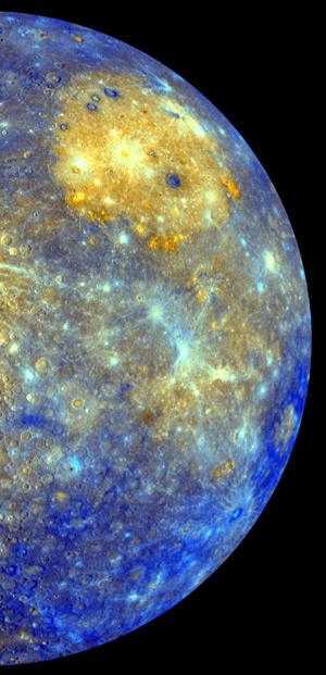 Imagem de Mercúrio feita pela sonda Messenger  - Crédito: Foto: Nasa/AP