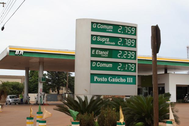 Preço do etanol subiu cerca de 20 centavos em dez dias na cidade de Dourados - Crédito: Foto: Hedio Fazan/PROGRESSO