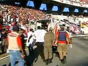 Torcedor morre após cair em fosso de estádio em Pernambuco - Crédito: Foto: Reprodução/TV Globo