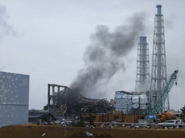 Fumaça vaza do reator 3 nesta segunda-feira - Crédito: Foto: Tokyo Electric Power Co / via AP Photo