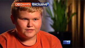 Casey Haynes, em entrevista ao canal de TV australiano Channel Nine - Crédito: Foto: Reprodução