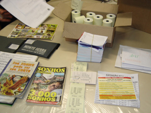 Material apreendido em lotéricas durante operação da Polícia Civil - Crédito: Foto: Divulgação/Polícia Civil