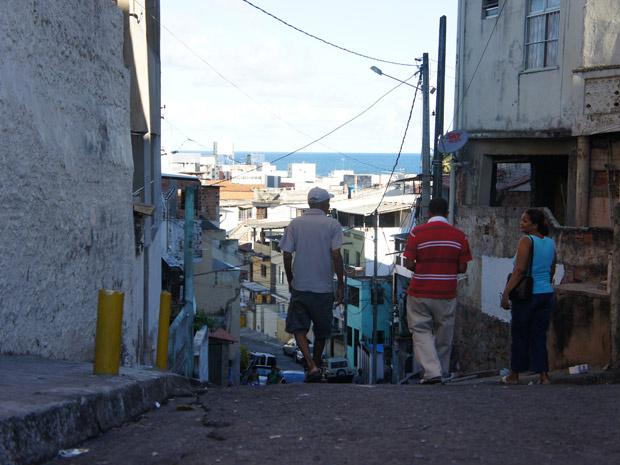Imagem do Bairro Nordeste de Amaralina, em Salvador, em fevereiro deste ano - Crédito: Foto: Glauco Araújo/G1