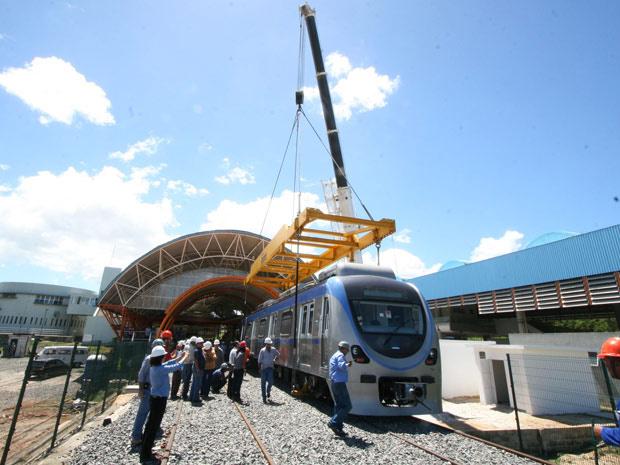 Trens do metrô de Salvador foram instalados em agosto do ano passado, mas nunca circularam com passageiros - Crédito: Foto: Mila Cordeiro/Agecom