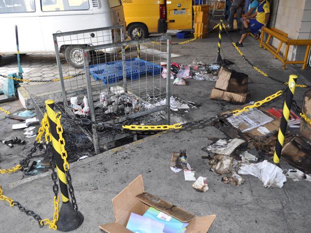 Pacotes explodiram em centro de distribuição dos Correios no Recife - Crédito: Foto: Divulgação/Polícia Federal