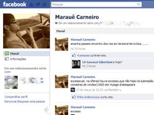 Marauê tirou post do Facebook e colocou outra mensagem sobre Piauí - Crédito: Foto: Reprodução/Facebook