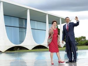 Dilma e Barack Obama no Palácio da Alvorada, em Brasília - Crédito: Foto: Roberto Stuckert Filho/PR