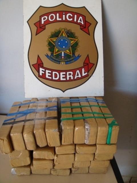25 quilos de maconha apreendidos pela PF de Ponta Porã - Crédito: Foto: Divulgação