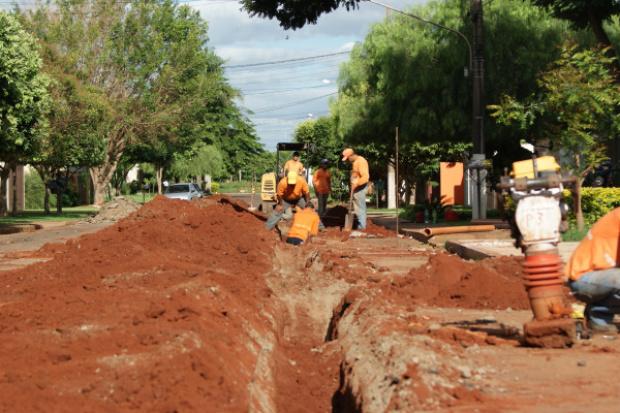 A primeira etapa das obras de saneamento foram recursos do PAC - Crédito: Foto: Hédio Fazan/PROGRESSO