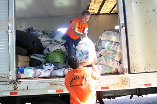 Governo vai entregar nesta segunda 500 cestas básicas aos moradores atingidos pelas chuvas - Crédito: Foto: Divulga-ção/PROGRESSO
