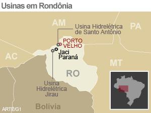Obras na usina de Santo Antônio continuam paralisadas em Rondônia -