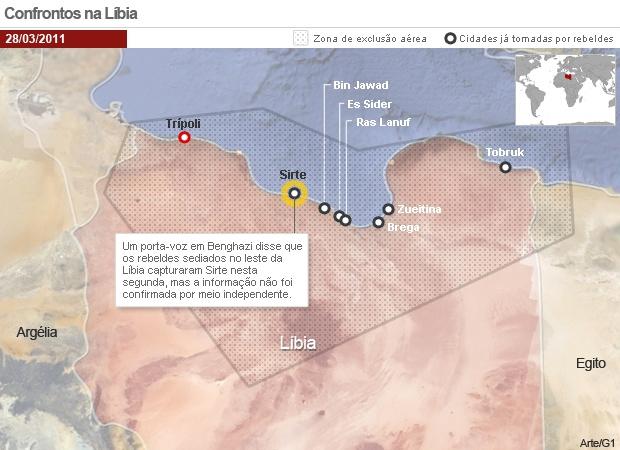Chefe da Otan vê 'pequeno número' de terroristas entre rebeldes da Líbia -