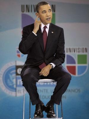 Barack Obama no encontro com pais e estudantes  - Crédito: Foto: AP