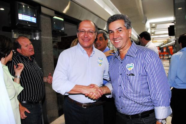 Deputado Reinaldo Azambuja e o atual governador de SP  Geraldo Alckmin - Crédito: Foto : Divulgação