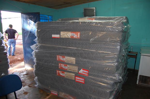 Empresário doou 30 colchões para os alojamentos do Ponta Porã Sociedade Esportiva - Crédito: Foto: Nivalcir Almeida