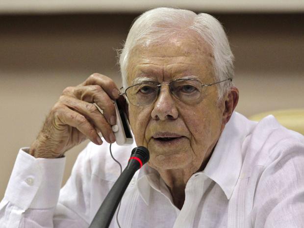 O ex-presidente dos EUA Jimmy Carter dá entrevista em Havana nesta quarta-feira - Crédito: Foto: AFP