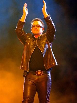 Bono durante show no Chile - Crédito: Foto: AFP